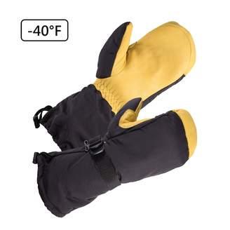 SKYDEER -40°F Cold-proof Skiing Gloves with Waterproof Premium Genuine Deerskin Leather (SD8648T/M)