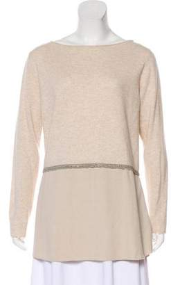 Fabiana Filippi Merino Wool Embellished Sweater