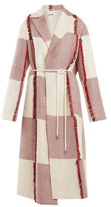 Jil Sander England Tie Waist Woven Coat - Womens - Red White
