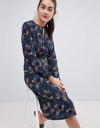 Sugarhill Boutique Noor Abstract Floral Midi Dress