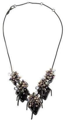 Alexis Bittar Pearl Cluster Bib Necklace