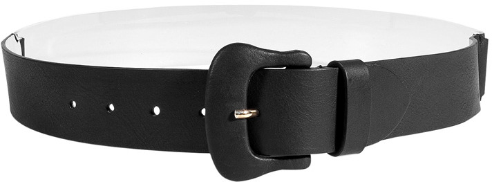 Maison Martin Margiela Black Leather Belt With Translucent Back