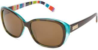 Kate Spade new york Hilde/P/S Hilde/P/S Polarized Cat Eye Sunglasses,Olive/Tortoise/Turquoise