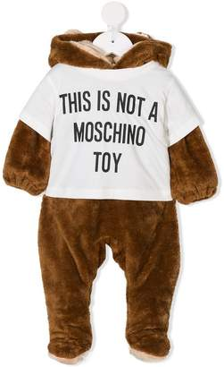Moschino Kids This Is Not A Toy bear babygrow
