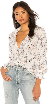 Michael Stars Neck Tie Floral Shirt