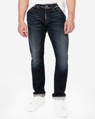 Express Slim Straight Dark Wash Stretch+ Jeans