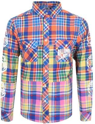 Billionaire Boys Club Multi Check Shirt Blue