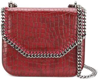 Stella McCartney crocodile-embossed Falabella Box shoulder bag
