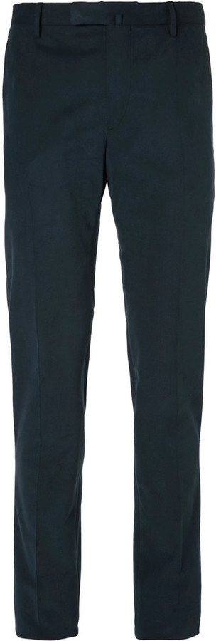 Boglioli Boglioli Blue Slim-Fit Brushed Stretch-Cotton Twill Suit Trousers