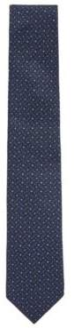Silk tie with digitally printed micro pattern