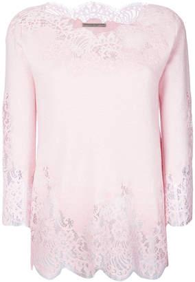 Ermanno Scervino lace trim sweatshirt