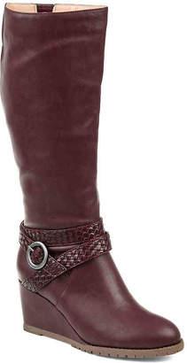 Journee Collection Garin Wide Calf Wedge Boot - Women's