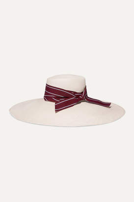 Sensi Studio - Oversized Grosgrain-trimmed Toquilla Straw Hat - White