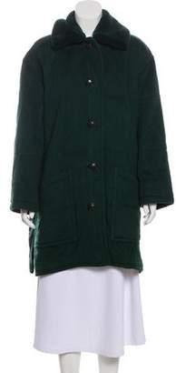 Couture Bisang Mink-Trimmed Cashmere Coat