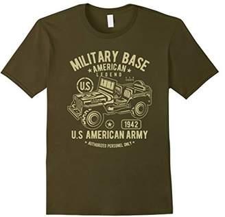 Military Vehicle Retro Vintage Distressed T-shirt