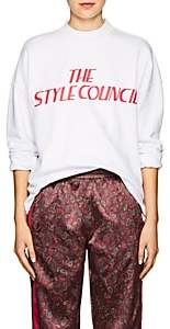 """Opening Ceremony Women's """"The Style Council"""" Cotton Sweatshirt-White"""
