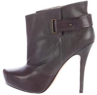 Jean-Michel Cazabat Leather Platform Ankle Boots