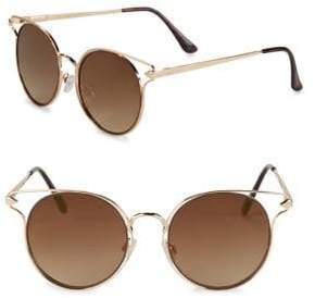Sam Edelman 50MM Tinted Round Sunglasses