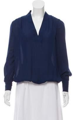 Ramy Brook Long Sleeve Silk Blouse