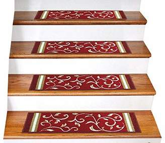 Gloria Rug Skid-Resistant Rubber Backing Gripper Non-Slip Carpet Stair Treads - Washable Stair Mat Area Rug (SET OF 7)