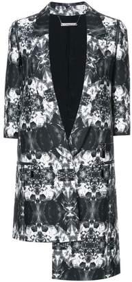 Thomas Wylde asymmetric printed blazer