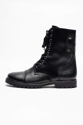 Zadig & Voltaire Joe Fur Men Boots