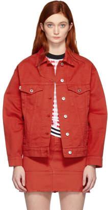 MSGM SSENSE Exclusive Red Denim Jacket
