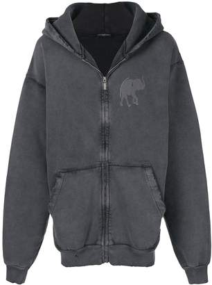 Balenciaga elephant zip-up hoodie
