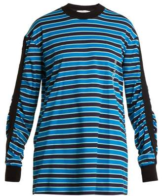 Givenchy Striped Cotton Sweatshirt - Womens - Black Blue