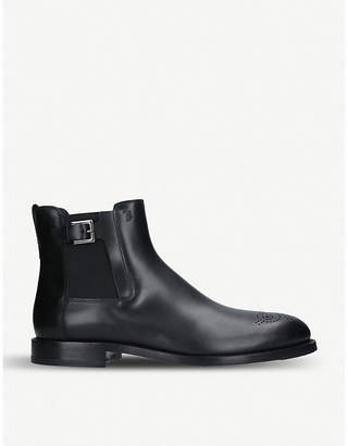 Tod's Tods Perforated-detail leather Chelsea boots