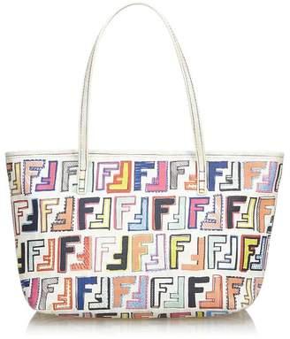 bc799c40d079 Fendi Vintage Multicolor Zucca Pvc Shoulder Bag