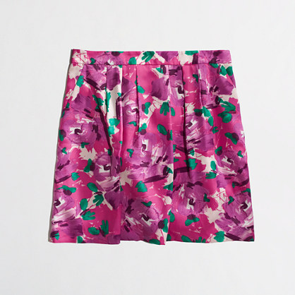 J.Crew Factory Factory pleated printed skirt