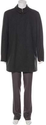 Burberry Wool Nova Check-Lined Coat