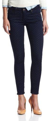 Paige Women's Verdugo Ankle Jean In Pin-Dot Print