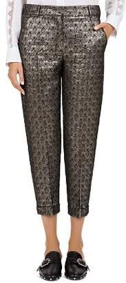 The Kooples Maple Cropped Metallic Jacquard Pants