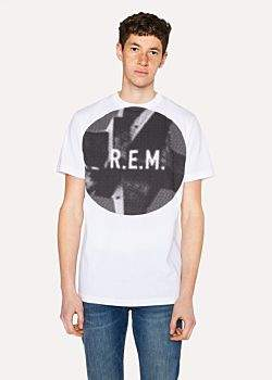 Paul Smith R.E.M. + White 'Automatic Logo' Print T-Shirt
