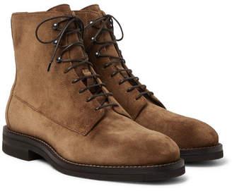 Brunello Cucinelli Suede Boots - Men - Brown