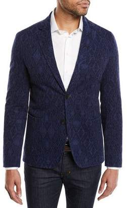 Etro Men's Carpet-Jacquard Cotton Two-Button Blazer