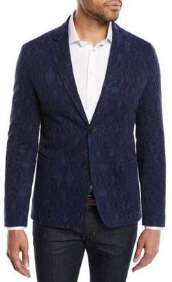 Etro Men's Carpet-Jacquard Cotton Two-Button Blazer