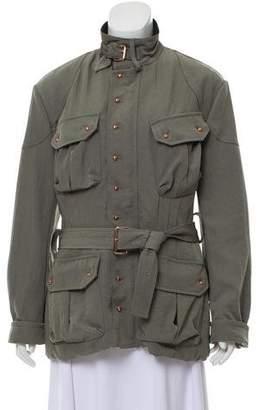Balenciaga Buckle-Accented Mock-Neck Jacket