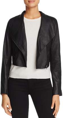 BB Dakota Shiloh Cropped Leather Biker Jacket