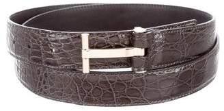 Tom Ford T Icon Crocodile Belt