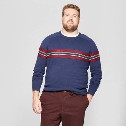 Goodfellow & Co Men's Big & Tall Crew Neck Sweater - Goodfellow & Co Navy