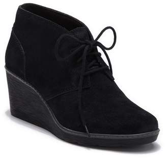 Clarks Hazen Charm Suede Wedge Chukka Bootie - Wide Width Available