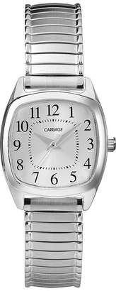Timex Carriage by Womens Square Stainless Steel Expansion Bracelet Watch CC3C751009J