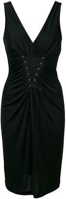 Moschino lace-up jersey dress