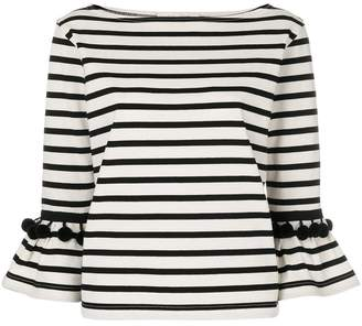 Marc Jacobs striped bell sleeve top