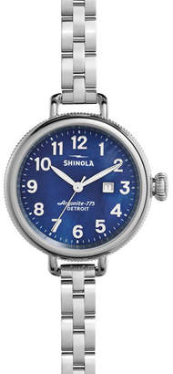 Shinola 34mm Birdy Bracelet Watch, Navy
