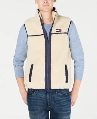Tommy Hilfiger Men Expedition Full-Zip Sherpa Fleece Vest