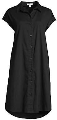 Eileen Fisher Women's Organic Cotton Twill Cap Sleeve Shirtdress